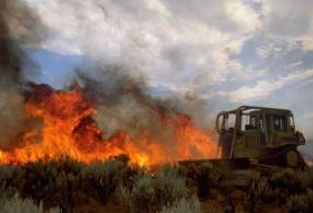 A lot of ranchers already own dozers and volunteer their time to dig fire line for the BLM or IDL.