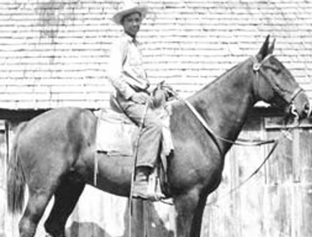 Bud at age 11 on horseback at the K-K Ranch.