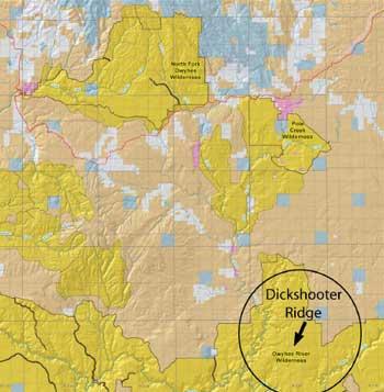 Chris Black runs cattle on Dickshooter Ridge
