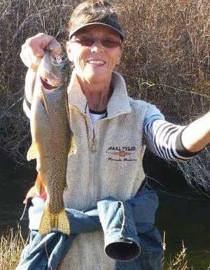 Donna with a nice fish.