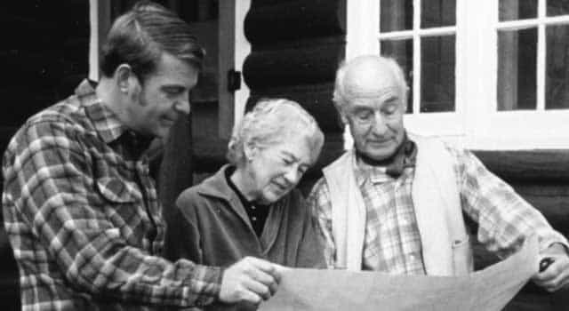 Former Idaho State Parks Director Steve Bly looks over the park plans with Roland and Gladys Harriman in the 1970s. The Harrimans inspired the creation of Idaho's state parks sytstem with their 16,000-acre gift of the Railroad Ranch to the state of Idaho.