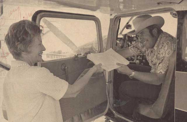 Peavey flew all over the state in his Cessna to push an initiative petition to create Idaho's Sunshine Laws. The measure passed on the first try with more than 70% in favor.
