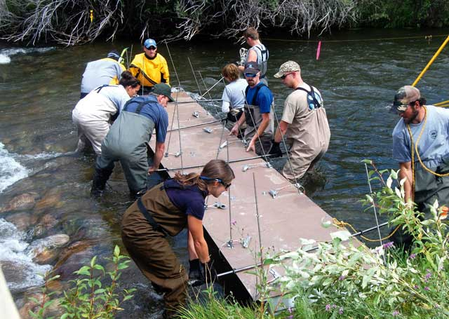 Idaho Fish and Game crews get ready to PIT-tag salmon smolts in the Lemhi River. PIT-tags provide vital information about fish location and survival during their life cycle.