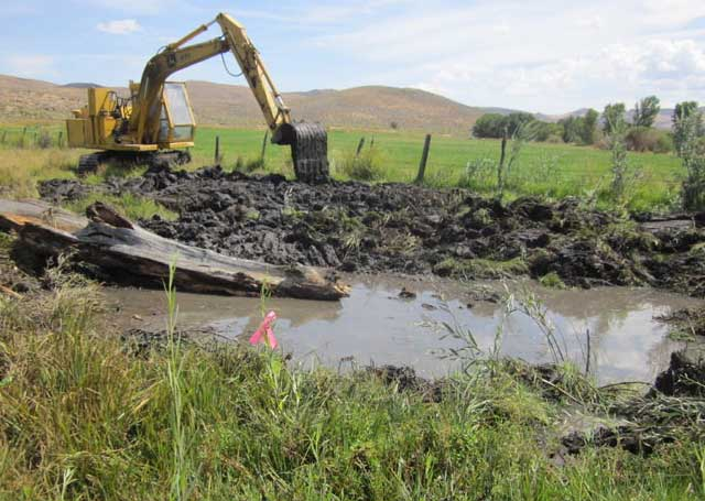 One of the ponds on the ZX Ranch enlarged an existing wetland to create more wildlife habitat.