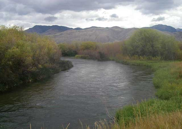 Ranchers now draw irrigation water from the Pahsimeroi River, which has plenty of flows throughout the growing season. This photo was taken in a new public fishing area managed by the Idaho Department of Fish and Game.