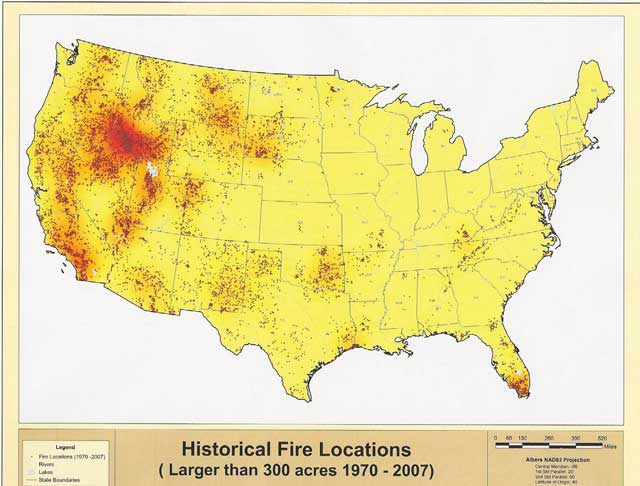 Southern Idaho and other parts of the Great Basin have had repeated, large wildfires as a result of climate change, drought and lightning storms.
