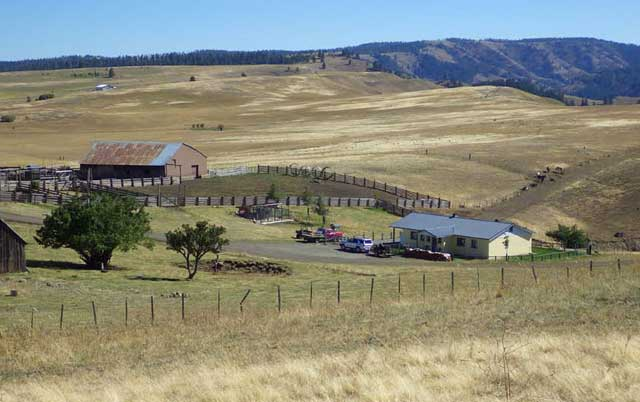 The High Range Ranch headquarters are located on the Joseph Plains, a remote but beautiful spot that's well-suited for cattle ranching.