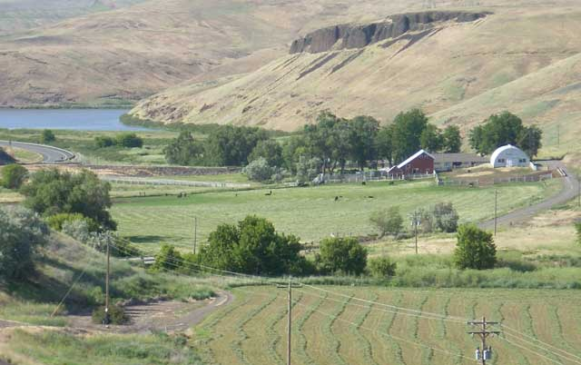 The Klaveano Ranch near Lower Granite Reservoir in Washington