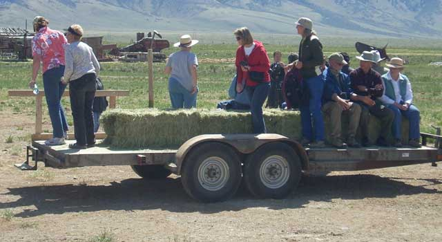 The Smiths held a tour of their ranch in the spring of 2012. Participants got a free hay ride as part of the deal.