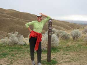 Deb Glazer of Boise is part of a regular women's running group called the Boise B's that uses the Boise Foothills trail system several times a week