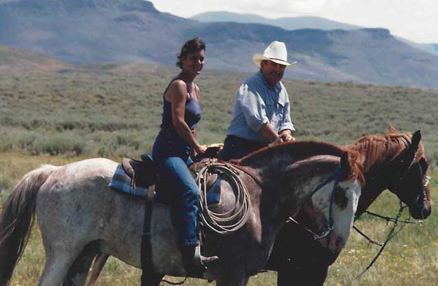 John and Diane were pleased to sign conservation easements that will preserve the Flat Top Ranch for many years into the future for agricul-tural production and conserving sage grouse and other wildlife habitat.