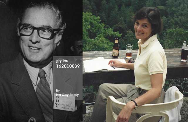 Above, Diane's father, Alvin M. Jose-phy Jr., was a Hollywood screenwriter, a World War II combat correspendent, a writer for Time magazine, an ac-complished author, and an authority on Native American tribes. Right, a photo of Diane in the days when she and John were dating.