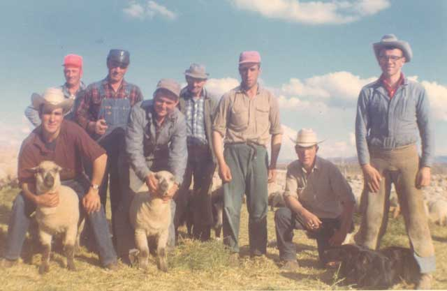 Henry, far right, and the Etcheverry sheep crew in 1967.
