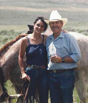 Diane and John at the Flat Top Ranch