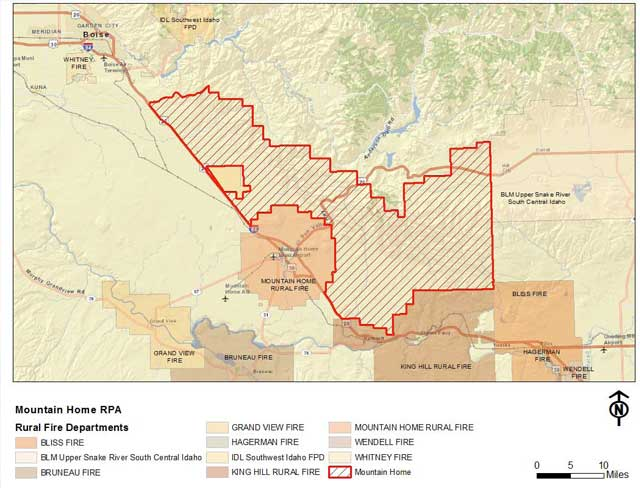 Mountain Home Fire Map