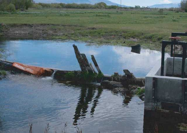 The old P-9 irrigation ditch.